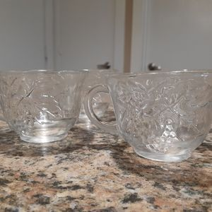 Mini glass cups with handles